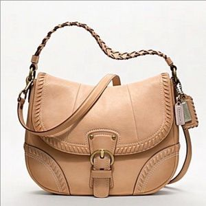 Coach Poppy Whipstitch Hobo Shoulder Bag Sample